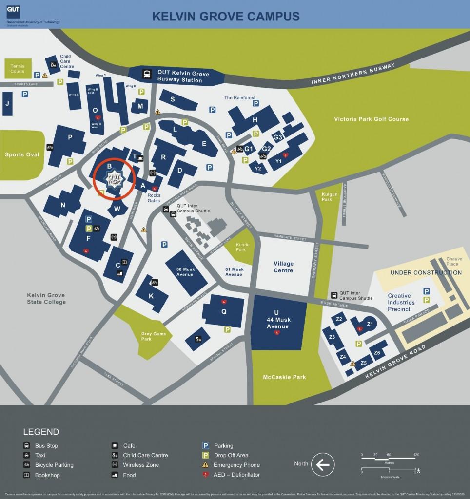QUT Kelvin Grove campus map